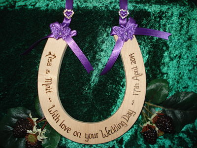Personalised diamante and butterfly horseshoe
