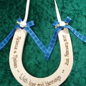 Personalised Standard Tartan Wedding Horseshoe
