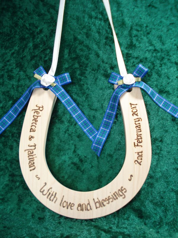 Personalised Standard Tartan Wedding Horseshoe