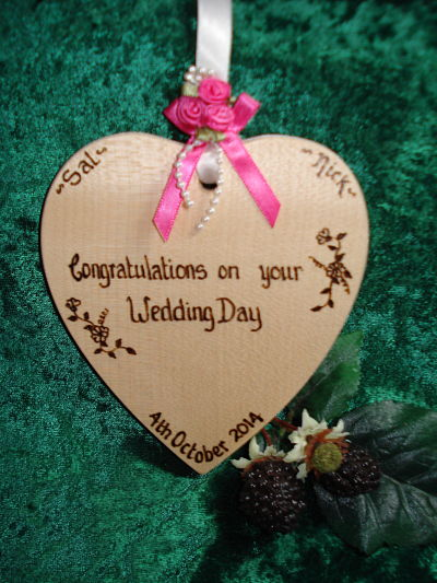 Personalised Wedding Heart