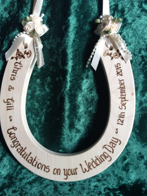 Personalised Deluxe Wedding Horseshoe