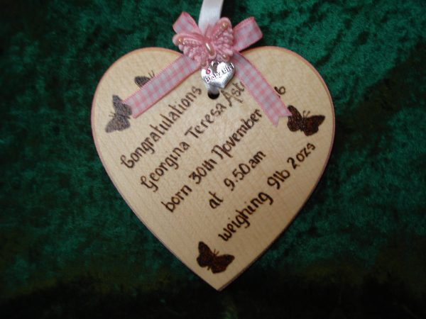 Personalised Baby Heart
