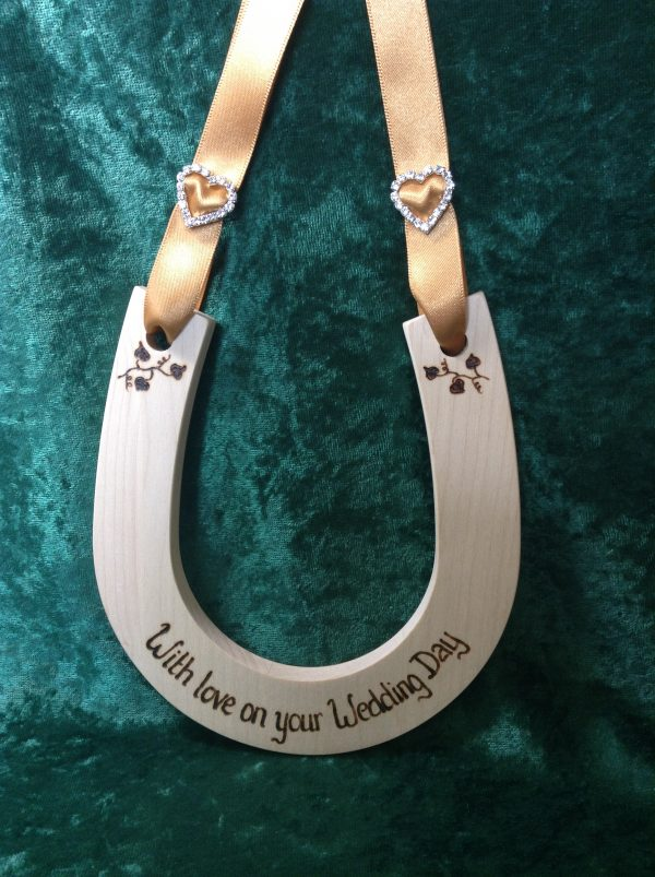 Personalised Diamante Wedding Horseshoe