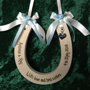 Something Blue Wedding Horseshoe