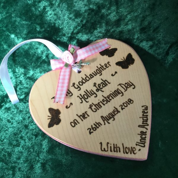 Personalised Christening Heart