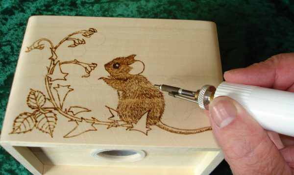 Pyrography money box