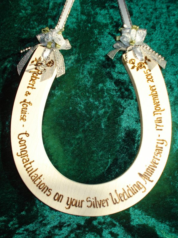 Silver Wedding Anniversary Horseshoe