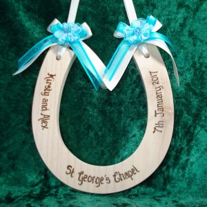 Rosette Wedding Horseshoe