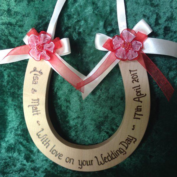 Rosette Wedding Horseshoe