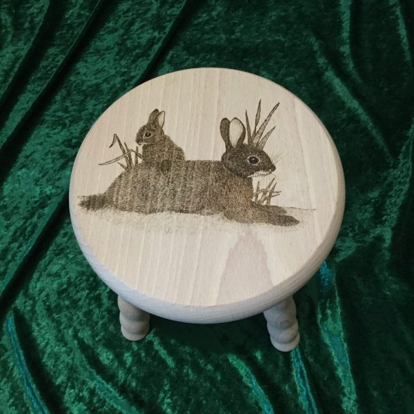 Beech Stool - rabbit