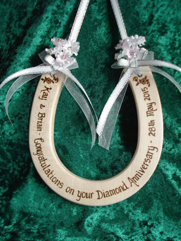 Diamond Wedding Horseshoe
