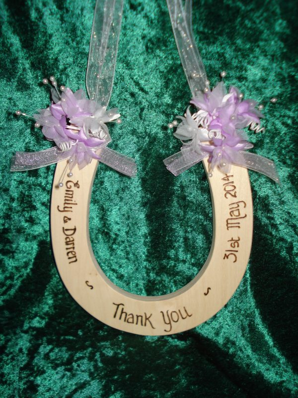 Organza and Babys Breath Horseshoe
