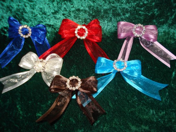 Pearl and Diamante buckle bows