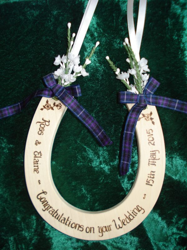 Purple Tartan Deluxe Horseshoe