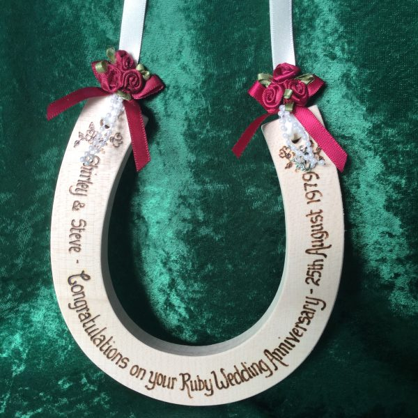 Ruby Wedding Anniversary Horseshoe
