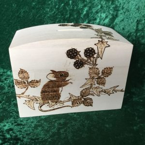 Mouse and berries money box