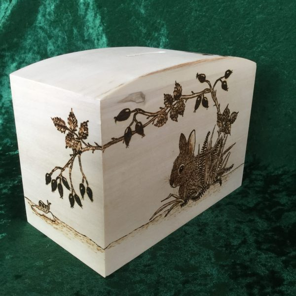 Rabbit Money Box - back and side view