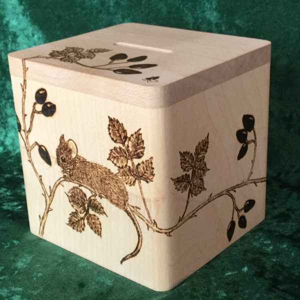 Square money box with mouse/hips